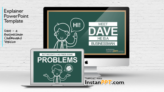 Dave – Businessman Chalkboard Version